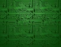 Διανυσματικό πράσινο υπόβαθρο πινάκων κυκλωμάτων Στοκ Φωτογραφία