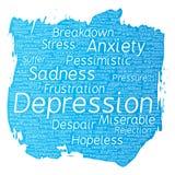 Διανυσματικό πρόβλημα αναταραχής κατάθλιψης διανοητικό συναισθηματικό Στοκ εικόνα με δικαίωμα ελεύθερης χρήσης