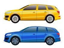Διανυσματικό πρότυπο αυτοκινήτων για τη διαφήμιση, εταιρική ταυτότητα απομονωμένος απεικόνιση αποθεμάτων