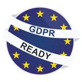 Διανυσματικό πρότυπο διακριτικών GDPR έτοιμο διανυσματική απεικόνιση