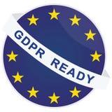 Διανυσματικό πρότυπο διακριτικών GDPR έτοιμο Στοκ Φωτογραφίες
