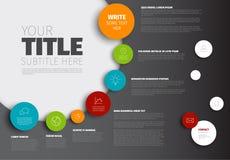 Διανυσματικό πρότυπο εκθέσεων υπόδειξης ως προς το χρόνο Infographic Στοκ Φωτογραφίες
