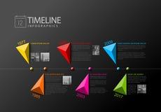 Διανυσματικό πρότυπο εκθέσεων υπόδειξης ως προς το χρόνο Infographic Στοκ εικόνες με δικαίωμα ελεύθερης χρήσης