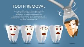 Διανυσματικό πρότυπο εμβλημάτων αφισών έννοιας αφαίρεσης δοντιών απεικόνιση αποθεμάτων