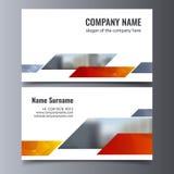 Διανυσματικό πρότυπο επαγγελματικών καρτών Δημιουργικό εταιρικό σχεδιάγραμμα ταυτότητας Στοκ Φωτογραφία