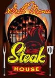 Διανυσματικό πρότυπο επιλογών χρώματος για το steakhouse με την καλλιγραφική εγγραφή ελεύθερη απεικόνιση δικαιώματος