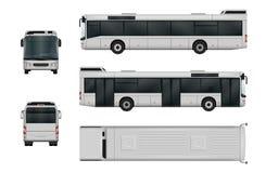 Διανυσματικό πρότυπο λεωφορείων πόλεων διανυσματική απεικόνιση