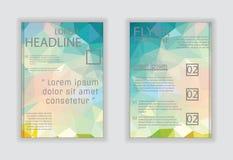 Διανυσματικό πρότυπο ιπτάμενων επιχειρησιακών φυλλάδιων ή εταιρικό desi εμβλημάτων Στοκ Εικόνες