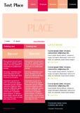 Διανυσματικό πρότυπο ιστοχώρου Editable Στοκ φωτογραφία με δικαίωμα ελεύθερης χρήσης