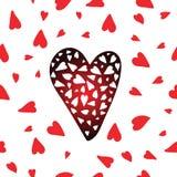 Διανυσματικό πρότυπο καρδιών Στοκ Φωτογραφίες