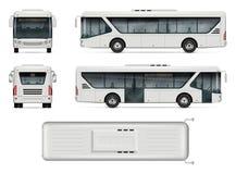 Διανυσματικό πρότυπο λεωφορείων πόλεων Στοκ φωτογραφία με δικαίωμα ελεύθερης χρήσης