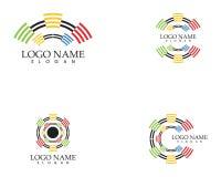 Διανυσματικό πρότυπο λογότυπων ομιλητών διανυσματική απεικόνιση