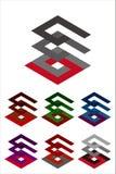 Διανυσματικό πρότυπο λογότυπων σχεδίου. Στοκ Εικόνα