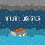 Διανυσματικό πρότυπο λογότυπων τέχνης απεικόνισης φυσικής καταστροφής στοκ φωτογραφία