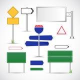 Διανυσματικό πρότυπο οδικών σημαδιών απεικόνιση αποθεμάτων