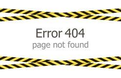Διανυσματικό πρότυπο σελίδων 404 λάθους, κάτω από διασχισμένες τις κατασκευή κορδέλλες απεικόνιση αποθεμάτων