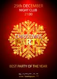 Διανυσματικό πρότυπο σχεδίου γιορτής Χριστουγέννων επίσης corel σύρετε το διάνυσμα απεικόνισης Στοκ Εικόνα