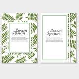 Διανυσματικό πρότυπο σχεδίου φυλλάδιων Eco Εταιρική αφίσα με τα πράσινα φύλλα Στοκ Εικόνα