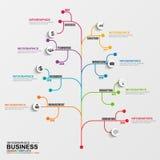 Διανυσματικό πρότυπο σχεδίου δέντρων Infographic Στοκ Εικόνα