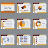Διανυσματικό πρότυπο σχεδίου επιχειρησιακής παρουσίασης απεικόνιση αποθεμάτων