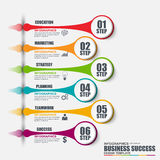 Διανυσματικό πρότυπο σχεδίου επιλογών αριθμού Infographic Στοκ Εικόνες