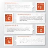 Διανυσματικό πρότυπο σχεδίου διαγραμμάτων εγγράφου επιχειρησιακών βημάτων και εμβλημάτων αριθμών Στοκ Φωτογραφία