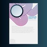 Διανυσματικό πρότυπο σχεδίου ιπτάμενων φυλλάδιων 10 eps Στοκ φωτογραφίες με δικαίωμα ελεύθερης χρήσης