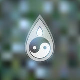Διανυσματικό πρότυπο σχεδίου λογότυπων Αφηρημένο μπλε νερό Στοκ Φωτογραφία