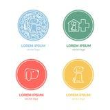 Διανυσματικό πρότυπο σχεδίου λογότυπων για τα καταστήματα κατοικίδιων ζώων Στοκ εικόνες με δικαίωμα ελεύθερης χρήσης
