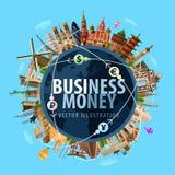 Διανυσματικό πρότυπο σχεδίου λογότυπων χρημάτων κατάθεση ή Στοκ Εικόνα