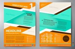 Διανυσματικό πρότυπο σχεδίου φυλλάδιων a4 Στοκ Εικόνες