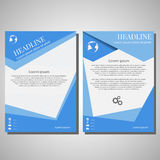 Διανυσματικό πρότυπο σχεδιαγράμματος σχεδίου ιπτάμενων φυλλάδιων, μέγεθος A4, μπροστινό pag Στοκ φωτογραφία με δικαίωμα ελεύθερης χρήσης