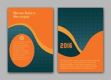 Διανυσματικό πρότυπο σχεδιαγράμματος σχεδίου ιπτάμενων φυλλάδιων, μέγεθος A4, πρώτη σελίδα και πίσω σελίδα Στοκ Φωτογραφία