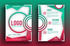 Διανυσματικό πρότυπο σχεδιαγράμματος σχεδίου φυλλάδιων Στοκ Εικόνες