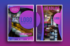 Διανυσματικό πρότυπο σχεδιαγράμματος σχεδίου φυλλάδιων Στοκ φωτογραφία με δικαίωμα ελεύθερης χρήσης