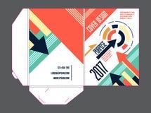 Διανυσματικό πρότυπο του εταιρικού φακέλλου Για τις προωθήσεις, διασκέψεις, εκθέσεις Στοκ εικόνα με δικαίωμα ελεύθερης χρήσης