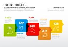 Διανυσματικό πρότυπο υπόδειξης ως προς το χρόνο Infographic οριζόντιο Στοκ εικόνα με δικαίωμα ελεύθερης χρήσης