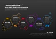 Διανυσματικό πρότυπο υπόδειξης ως προς το χρόνο Infographic Στοκ Εικόνα
