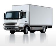 Διανυσματικό πρότυπο φορτηγών φορτίου παράδοσης που απομονώνεται στο λευκό διανυσματική απεικόνιση