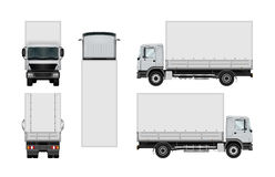 Διανυσματικό πρότυπο φορτηγών ελεύθερη απεικόνιση δικαιώματος