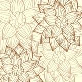 Διανυσματικό πρότυπο φυλλάδιων υποβάθρου λουλουδιών ελεύθερη απεικόνιση δικαιώματος