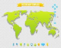 Διανυσματικό πρότυπο χαρτών απεικόνιση αποθεμάτων