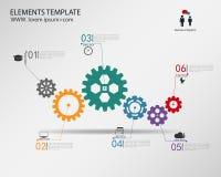 Διανυσματικό πρότυπο Infographic με την αλυσίδα εργαλείων Στοκ φωτογραφίες με δικαίωμα ελεύθερης χρήσης