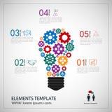 Διανυσματικό πρότυπο Infographic με την αλυσίδα εργαλείων Στοκ εικόνες με δικαίωμα ελεύθερης χρήσης