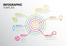 Διανυσματικό πρότυπο Infographic με το στόχο κύκλων Στοκ εικόνα με δικαίωμα ελεύθερης χρήσης