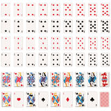 Διανυσματικό πλήρες σύνολο καρτών παιχνιδιού απεικόνιση αποθεμάτων