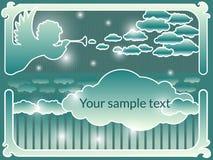 Διανυσματικό πλαίσιο με έναν άγγελο Απεικόνιση αποθεμάτων