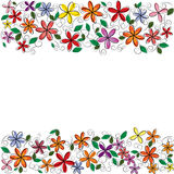 Διανυσματικό πλαίσιο λουλουδιών Στοκ εικόνα με δικαίωμα ελεύθερης χρήσης