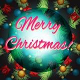 Διανυσματικό πλαίσιο στα χρώματα Χριστουγέννων Στοκ Εικόνες