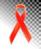 Διανυσματικό ρεαλιστικό κόκκινο σημάδι riibon της ημέρας συνειδητοποίησης ενισχύσεων και HIV και του μήνα Δεκεμβρίου σχέδιο για τ Στοκ εικόνες με δικαίωμα ελεύθερης χρήσης